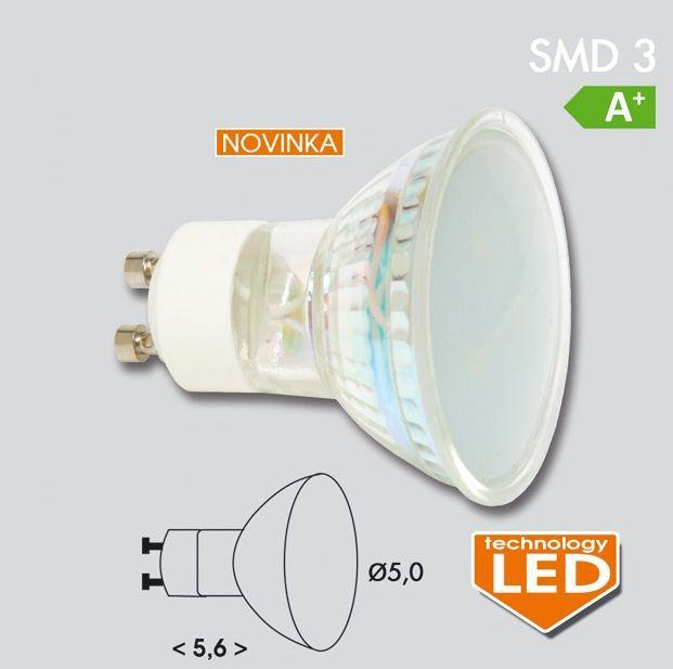 EcoLite LED GU10, 3xSMD, 1W, 2700K, 60lm