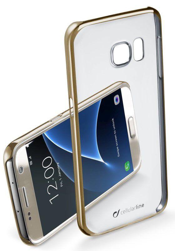 CellularLine Zadní čirý kryt Clear Samsung Galaxy S7 (Zlatý)