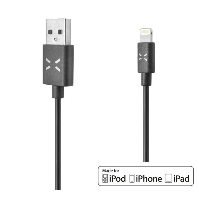 Fixed USB datový kabel s konektorem Lightning - PFI, 1m (černý)