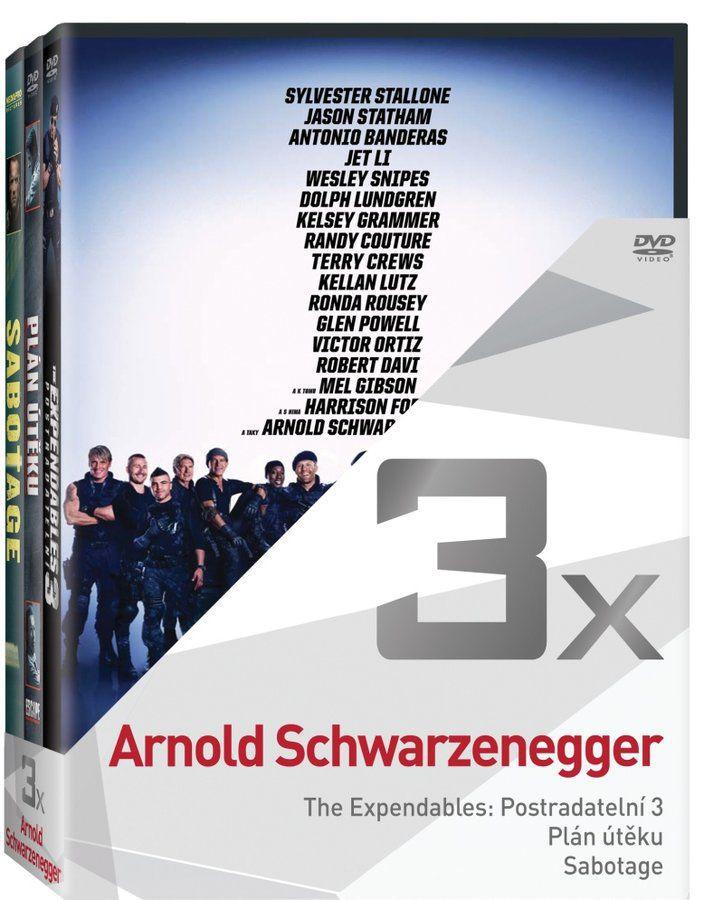 Arnold Schwarzenegger kolekce - 3xDVD