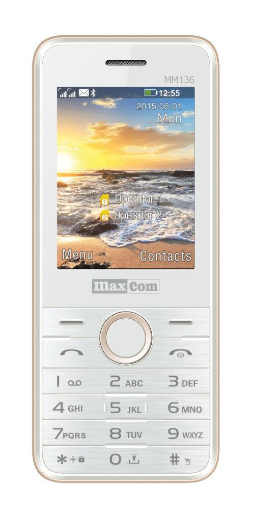 Maxcom MM136 DualSIM (zlatá)