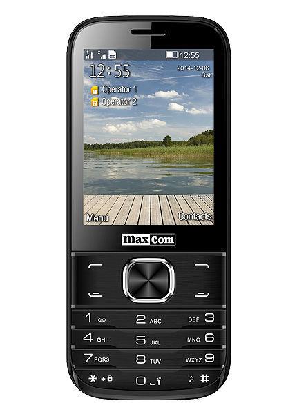 Maxcom MM237 Dual SIM (černý)