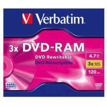 Verbatim DVD-RAM 4,7GB 3x, 1ks