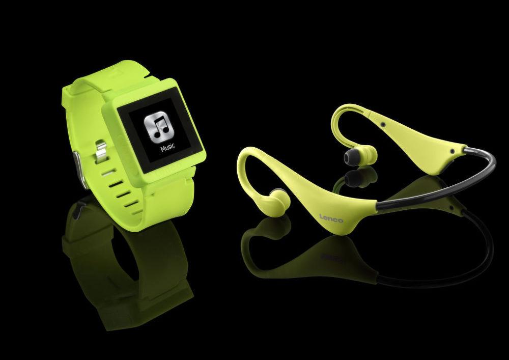 Lenco Sportwatch-100 + BH-100 (zelené)