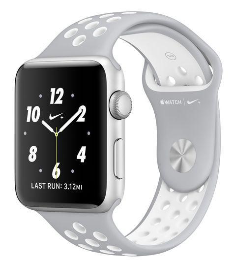 Apple Watch Nike+ 38mm (stříbrný hliník s matně stříbrným / Nike bílým sportovním řemínkem)