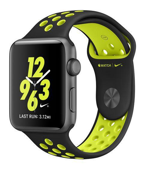 Apple Watch Nike+ 38mm (vesmírně šedý hliník s černým / Nike Volt sportovním řemínkem)