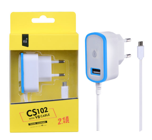 Aligator Plus CS102 Micro USB (bílo modrá)