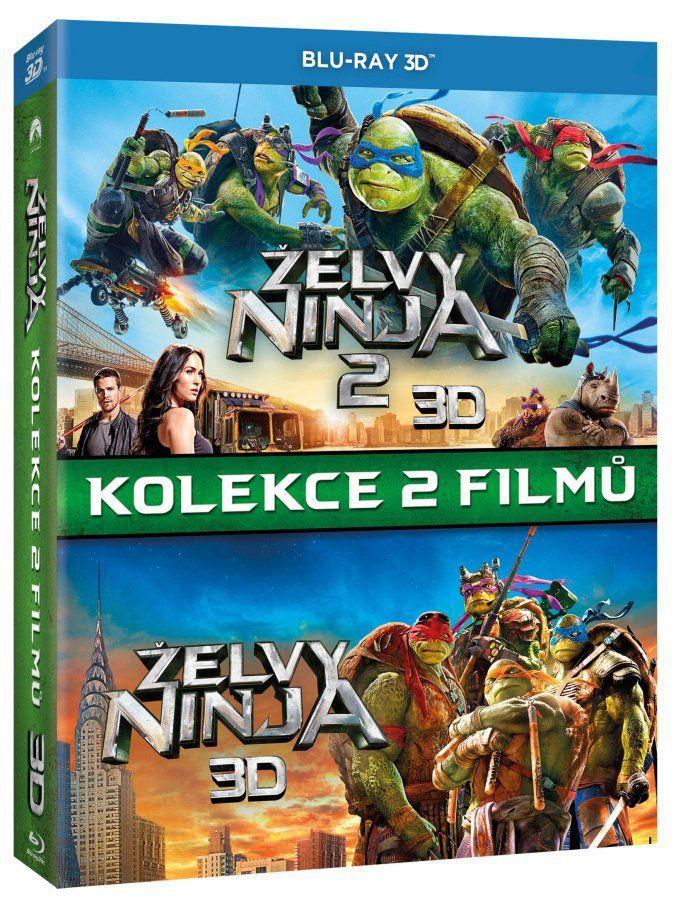 Želvy Ninja kolekce 3D - 2x 3D Blu-ray film
