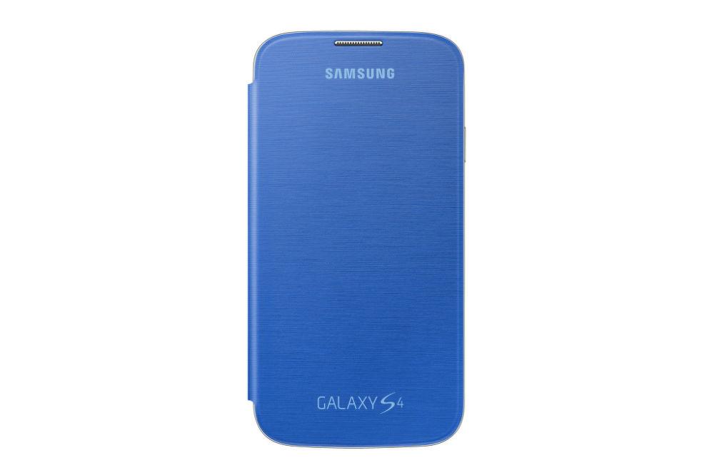 SAMSUNG flipové pouzdro EF-FI950BC pro Galaxy S4 (i9505) modrá