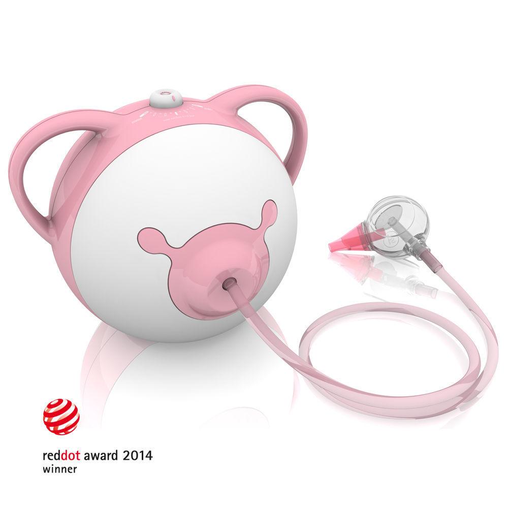 Nosiboo odsávačka (růžová) - Elektrická odsávačka hlenů