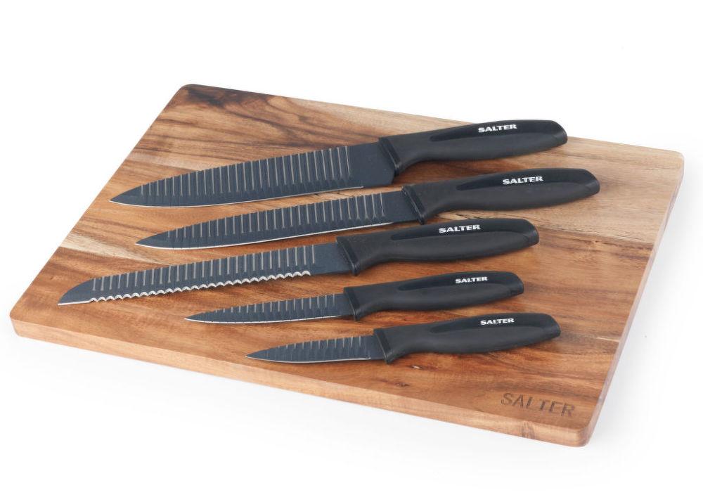 SALTER SABW04377 (6ks) - SET nožů + deska