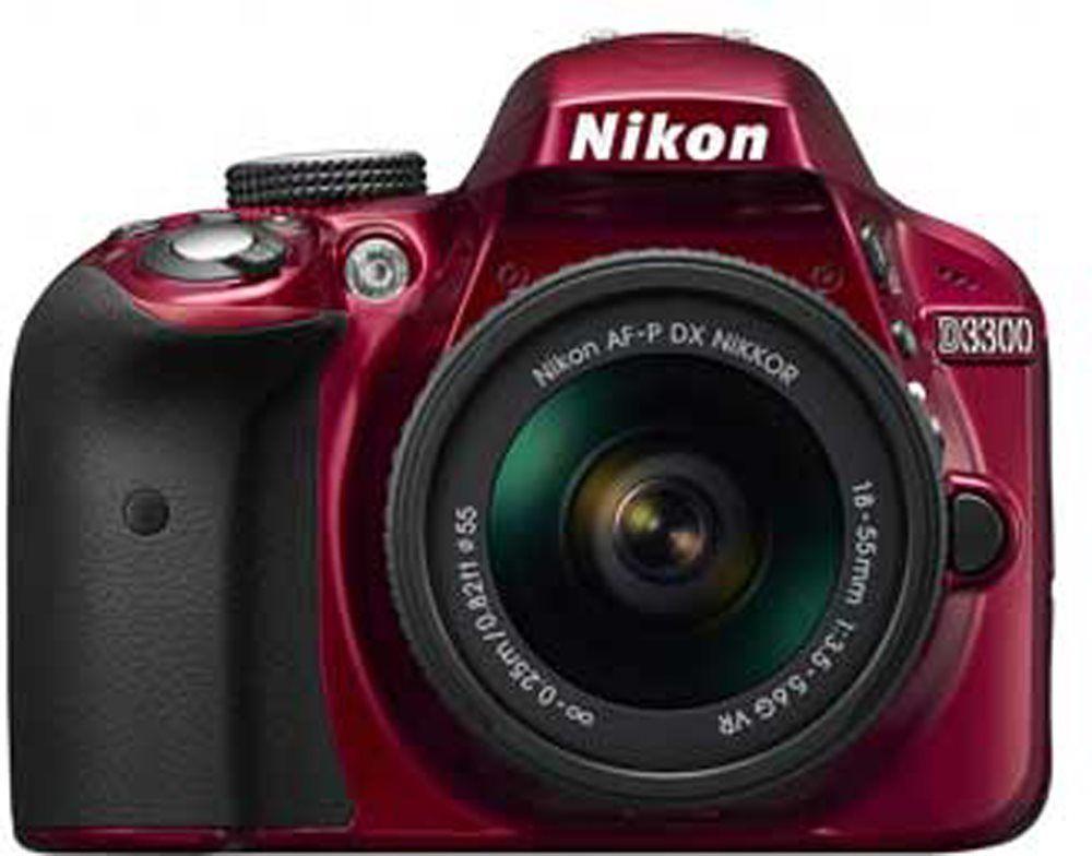 Nikon D3300 (červený)+18-55 AF-S DX VR