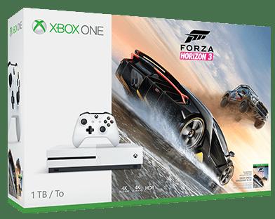 Microsoft Xbox One S 1 TB (bíla)+Forza Horizon 3 + dárek SpeedLink STIX Controller Cap Set - pro Xbox One zdarma