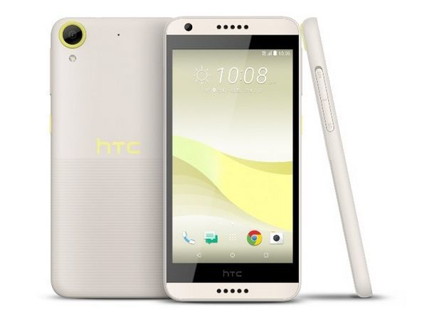 HTC Desire 650 bílo-žlutý