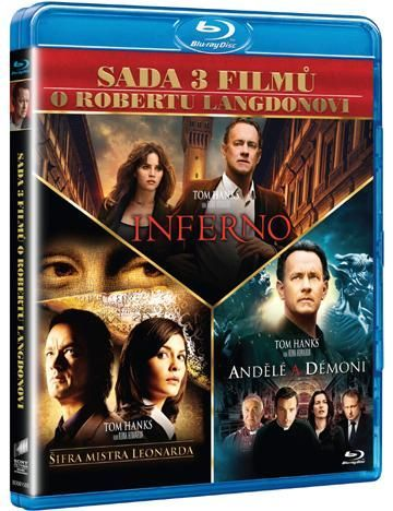 Dan Brown kolekce - 3 DVD filmy