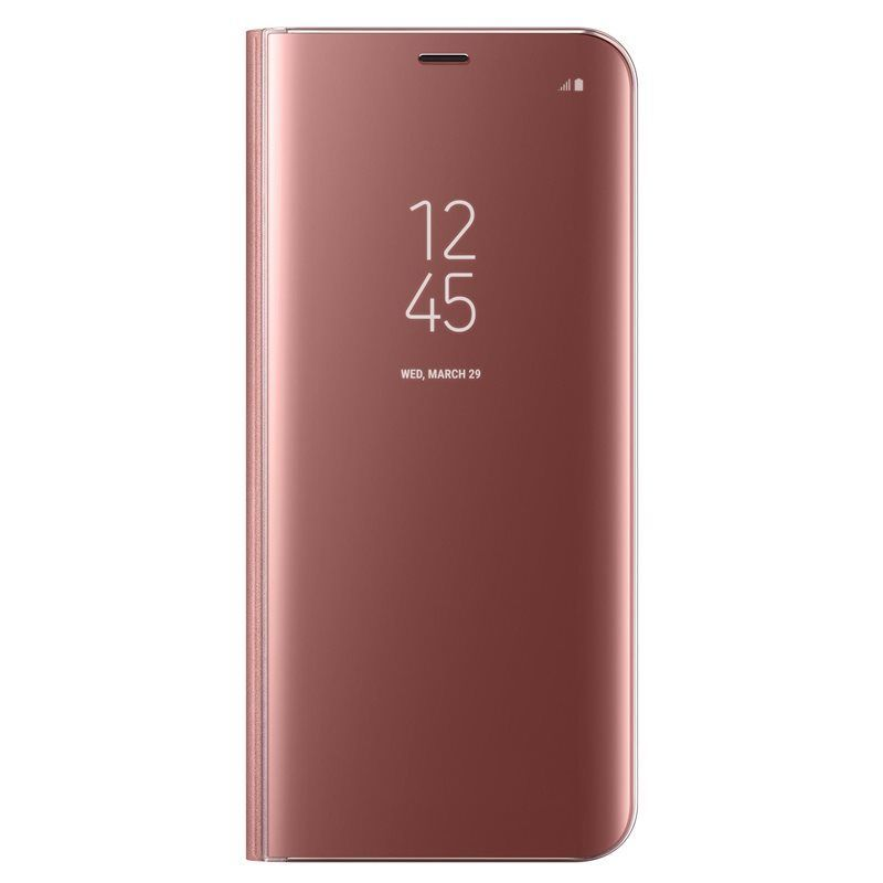 Samsung Clear View EF-ZG955 Galaxy S8+ růžové