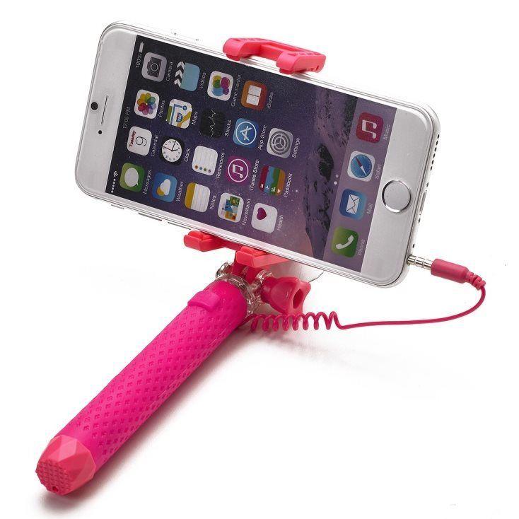 Celly Miniselfie ružová selfie tyč