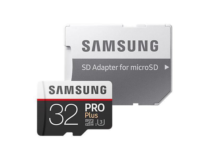 Samsung Micro SDHC 32GB PRO Plus + SD adaptér MB-MD32GA/EU