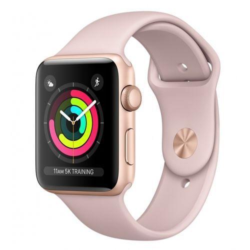 Apple Watch Series 3 38mm (zlatý hliník/pískově růžový sportovní řemínek)