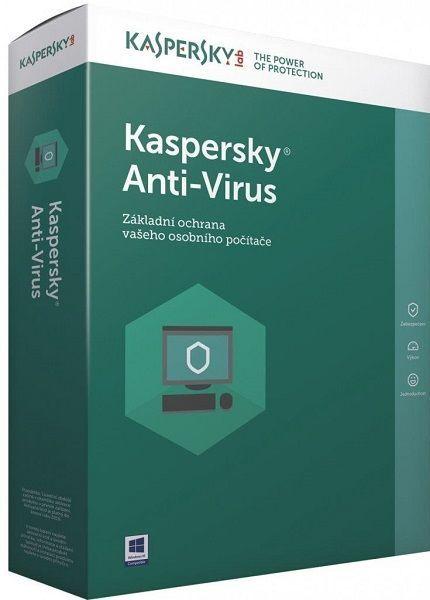 Kaspersky Anti-Virus 2017 1 PC / 1 rok + 3 měsíce zdarma