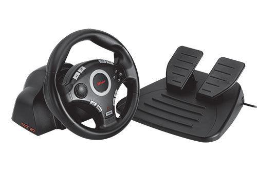 trust gxt 27 force vibration steering wheel volant pro pc a ps3. Black Bedroom Furniture Sets. Home Design Ideas