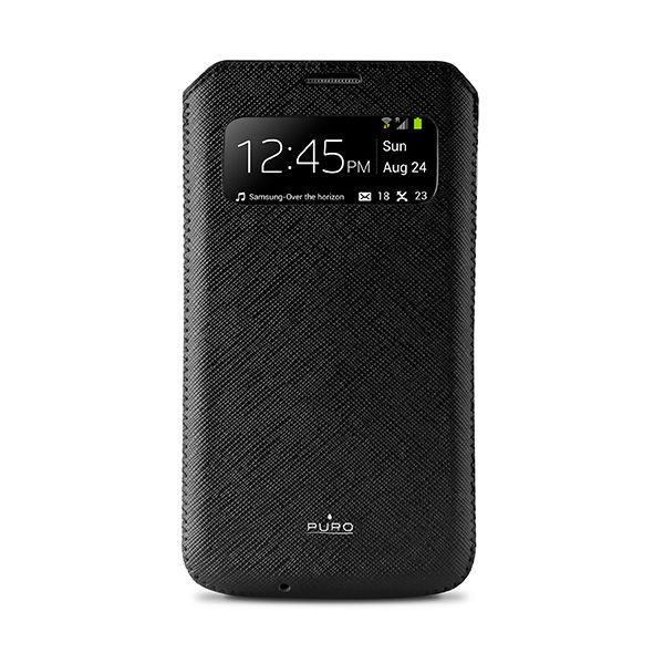 Puro View Slim Essential pouzdro pro Samsung Galaxy S4 (černé)