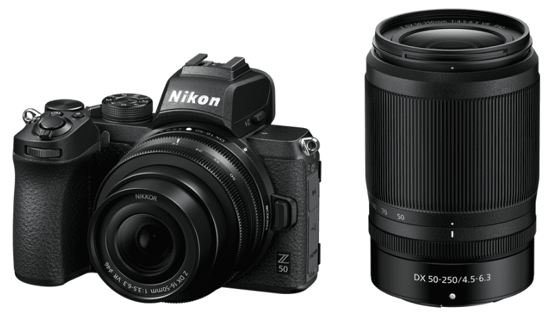 Nikon Z50, černá + Nikon Z DX 16-50mm f/3,5-6,3 VR + Nikon Z DX 50–250 mm f/4,5–6,3 VR
