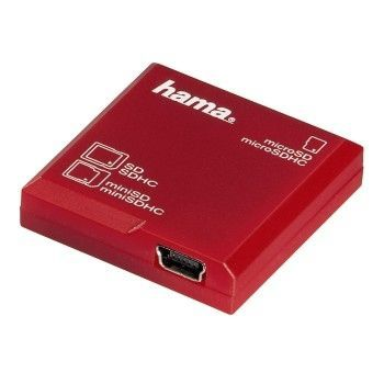Hama SD All in 1 Card Reader 91095 červená - čtečka