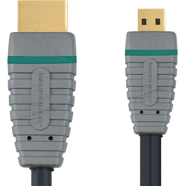 Bandridge BVL1702, HDMI 1.4 (typ A) - micro HDMI (typ D), Ethernet, 2m