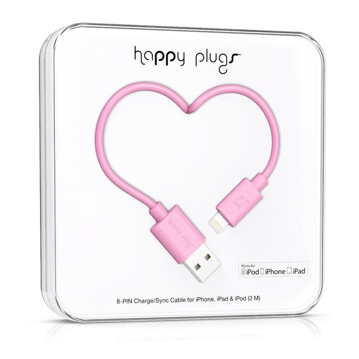 Happy Plugs 9902 - Lightning kabel (růžový)