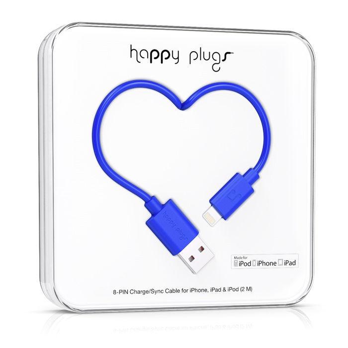 Happy Plugs 9908 - Lightning kabel (kobaltový)