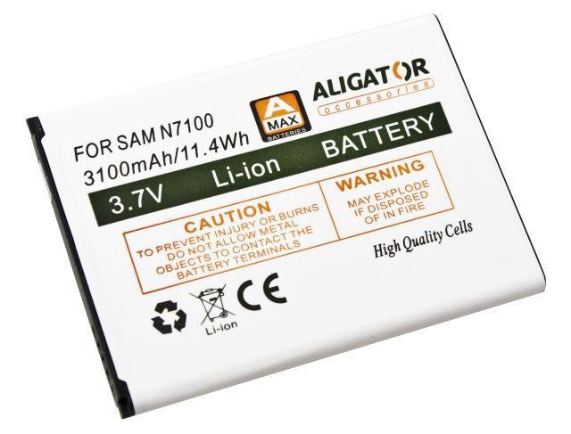 Aligator baterie pro Samsung Galaxy Note 2 (Li-Ion 3100 mAh)