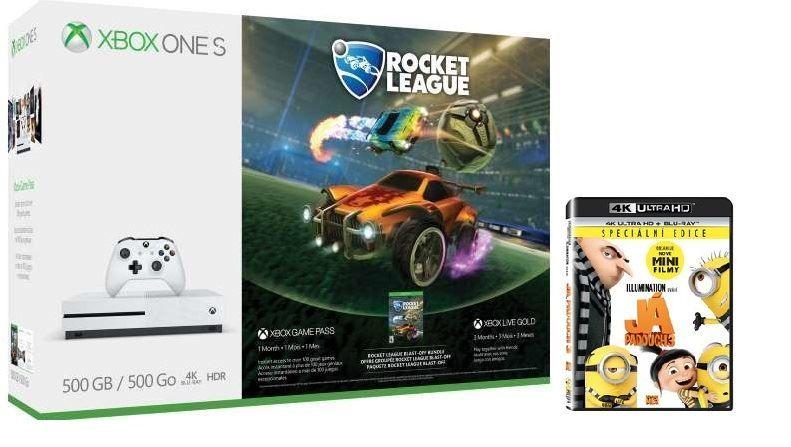 Microsoft Xbox One S 500 GB + Rocket League + Já padouch 3