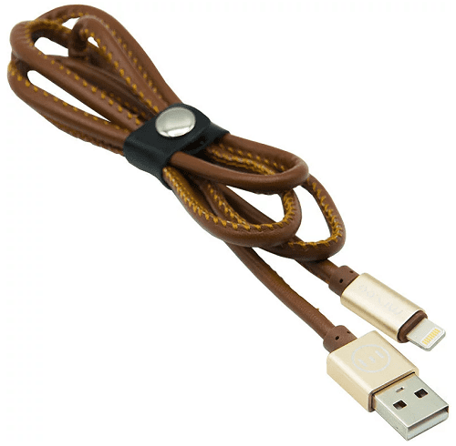 Mizoo X19 lightning-USB kabel, hnědá