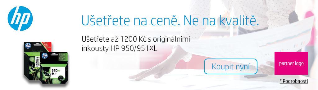 Cashback až 1 200 Kč na originálními inkousty HP 950/951XL