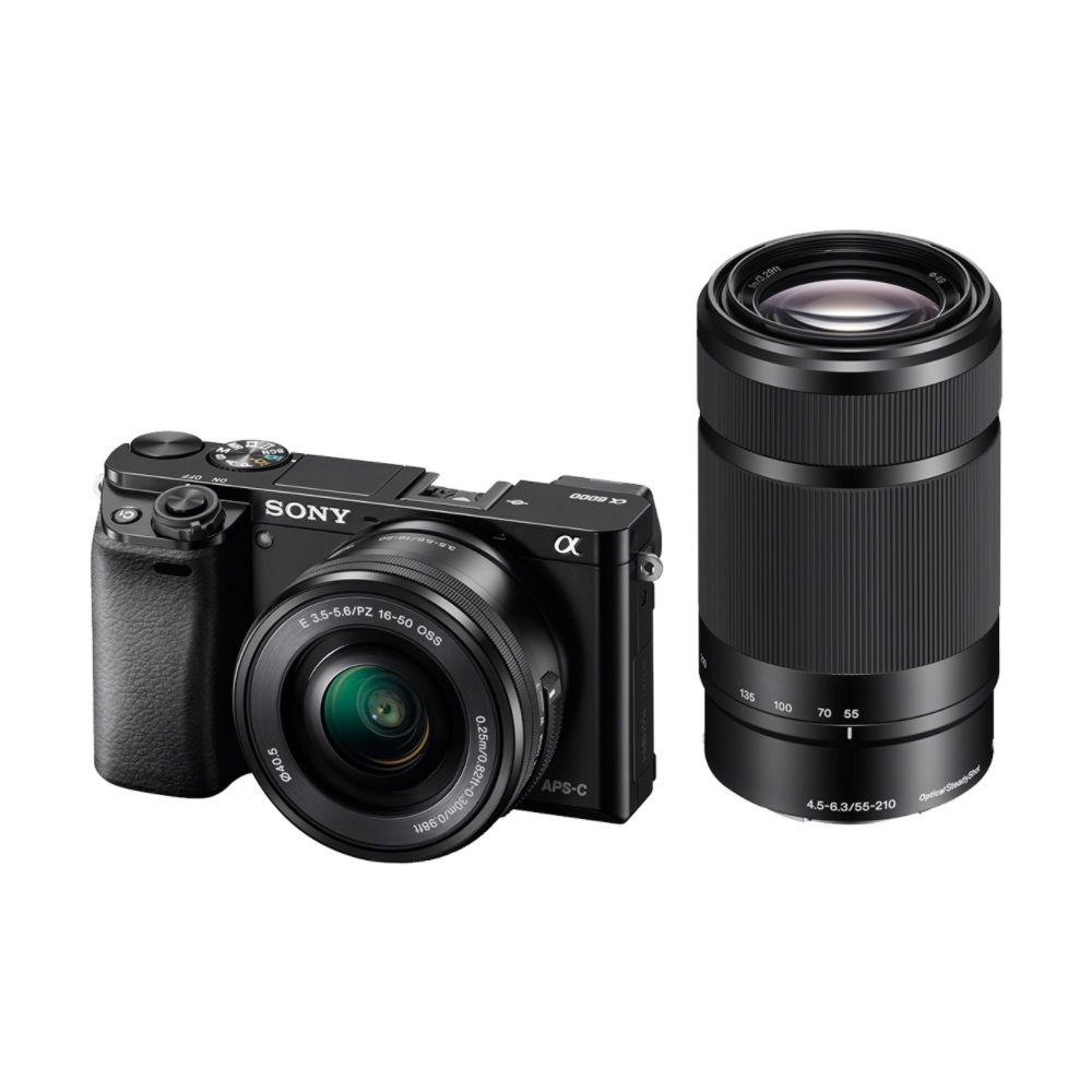 Sony Alpha 6000 černá + 16-50mm + 55-210mm