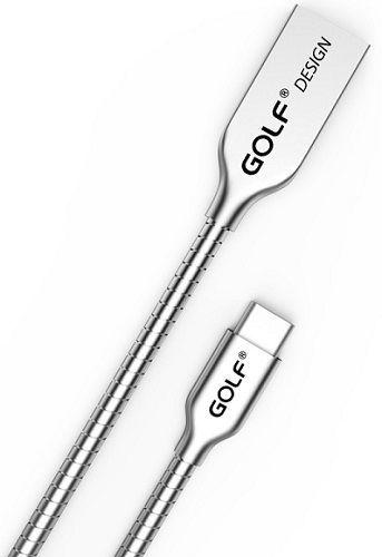 Golf GC33c USB-C kabel 2,4 A 1m, stříbrná