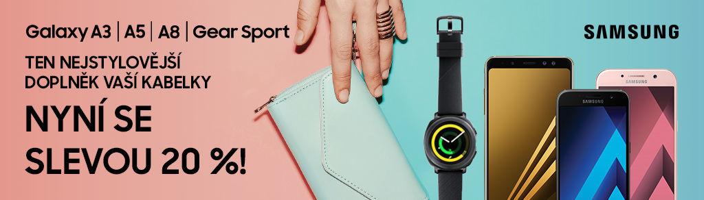 Nákupy Ona Dnes - sleva 20 % Samsung Galaxy A3 | A5 | A8 a GEAR Sport