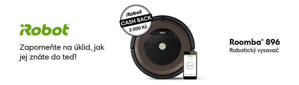 Cashback 3 000 Kč na vysavač iRobot Roomba 896
