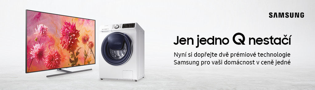 Quick Drive pračka ke QLED televizorům Samsung