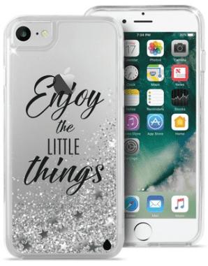 Puro zadní kryt AQUA pro Apple iPhone 8/7/6, stříbrná