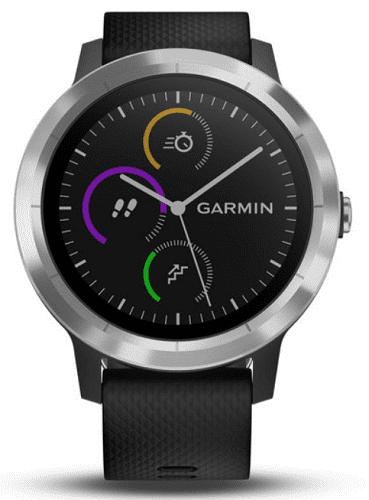 GARMIN vívoActive3, stříbrno-černá