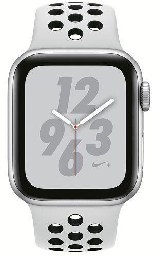 Apple Watch Series 4 Nike+ 40mm stříbrný hliník/platinový sportovní řemínek Nike