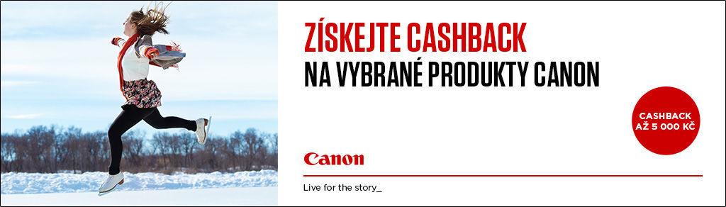 Zimní cashback na vybrané produkty Canon