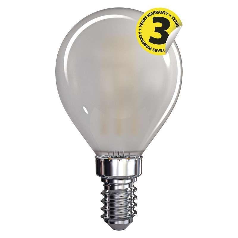 EMOS LED FLM MINI GL WW FR, žárovka 4W E14