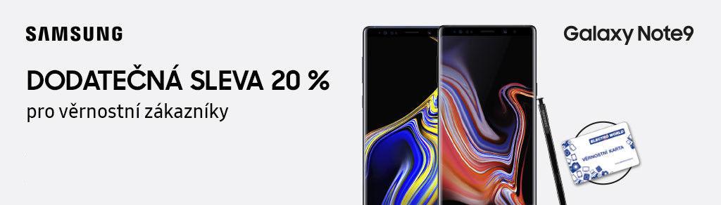 Dodatečná 20 % sleva na Samsung Galaxy Note9