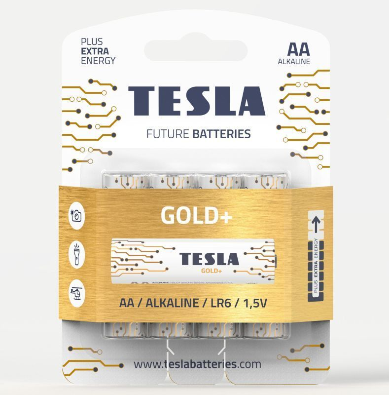 TESLA GOLD+ AA 4ks, alkalická baterie