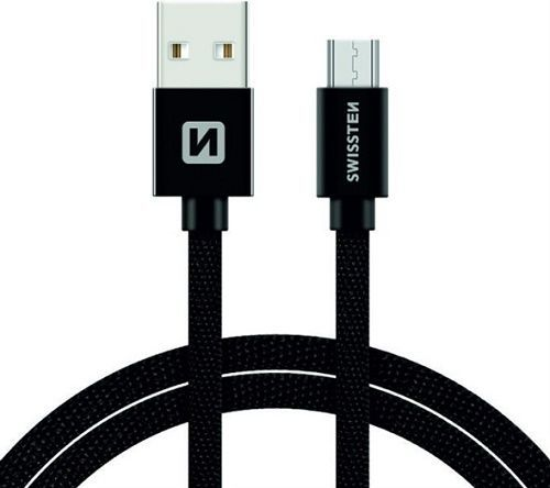Swissten USB/Micro USB kabel 1,2 m, černá