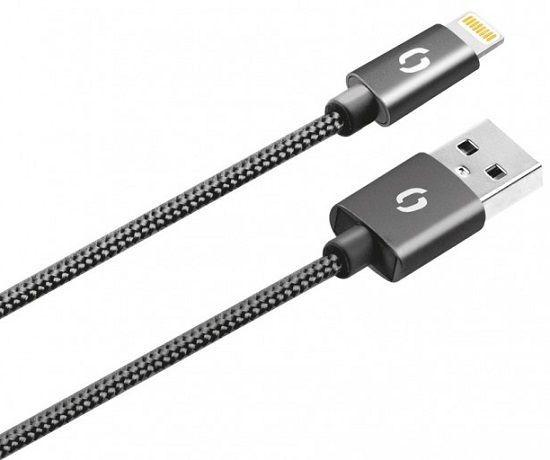 Aligator Lightning datový kabel 1m, černá