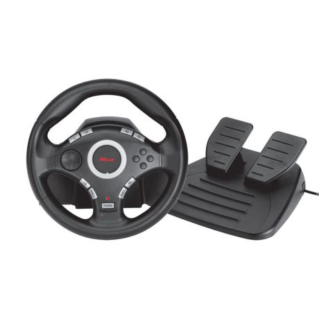 trust gxt 27 force vibration steering wheel volant pro pc a ps3. Black Bedroom Furniture Sets. Home Design Ideas